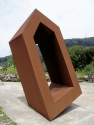 """Durchgang, V"", 2005 <br /> Corten steel, 320 cm x 180 cm x 152 cm <br /> owned by the artist"