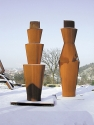 "left: ""Gefäß + Haus"", 2004, Corten steel, height 380 cm <br /> right: ""Gefäß + Haus"", 2004, Corten steel, height 445 cm <br /> Collection Würth, Bad Mergentheim"